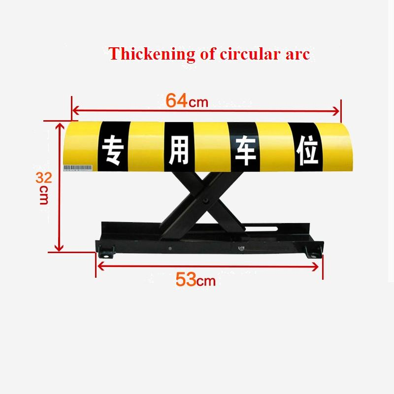 Outdoor Parking Lot Barrier/ Car Parking Lock / Parking Spack Lock height 305mm parking post barrier bollard(no battery) half ring shape of the block machine parking barrier lock