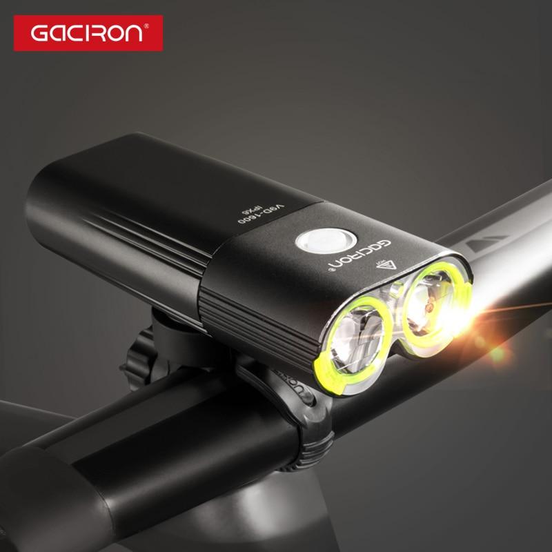 GACIRON Professional 1600 Lumen Fahrradlicht Power Bank Wasserdichte - Radfahren - Foto 2