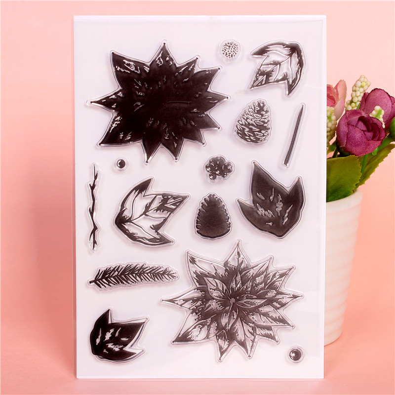 Pine cone   Transparent Clear Silicone Stamps for DIY Scrapbooking Card Making diy photo Roller album Decorative