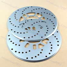 New Arrive 1Pair Car Auto Aluminium Disc Vehicle Decorative Brake Rotor Cross Drilled Cover Silver Drop Shipping