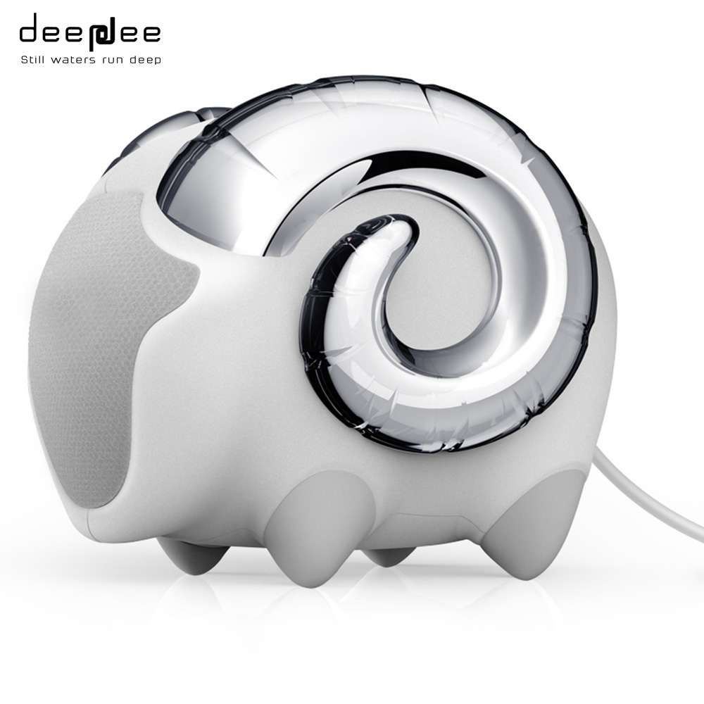 DEEPDEE Mini Wired Portable Sheep Music Speaker HIFI Cute Animals Subwoofer Loudspeaker Connect With USB Laptop