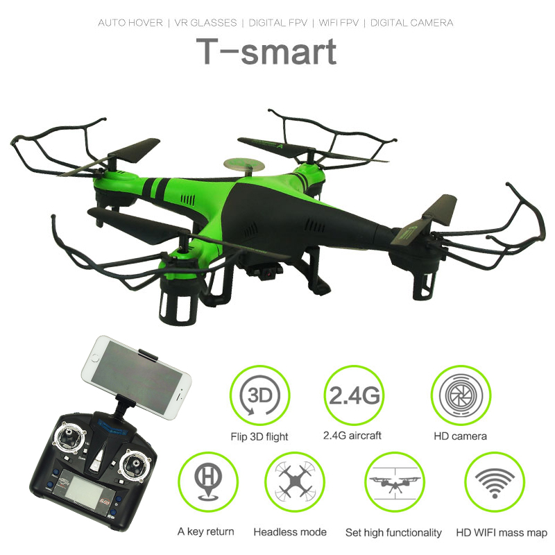 XBM-38W WiFi Real-time 0.3MP HD FPV Camera RC Quadcopter One Key Return RC Helicopter with Headless & Barometer Set Height Mode jjrc h8d 2 4ghz rc drone headless mode one key return 5 8g fpv rc quadcopter with 2 0mp camera real time lcd screen s15853