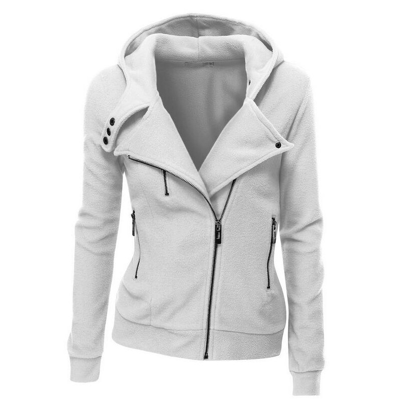 OLGITUM HIGH QUALITY Cotton Jacket Long Sleeve Fashion Spring Hoodies Autumn Women Zipper Casaco Feminino   Coats   SS012