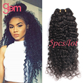 Indian Curly Virgin Hair 5 Bundles Deal Indian Deep Curly Weave Human Hair Queen Hair Products Raw Virgin Indian Hair Bundles 1B