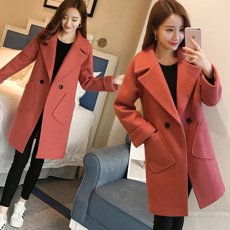 High Quality Winter Coat Female Long Woolen Jacket New Autumn And Winter Clothing Wool Coat Female Thick Loose Coat