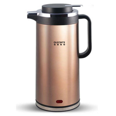 Olecshte ol-820b electric heating kettle full stainless steel double layer insulation anti-hot 4 1.8l