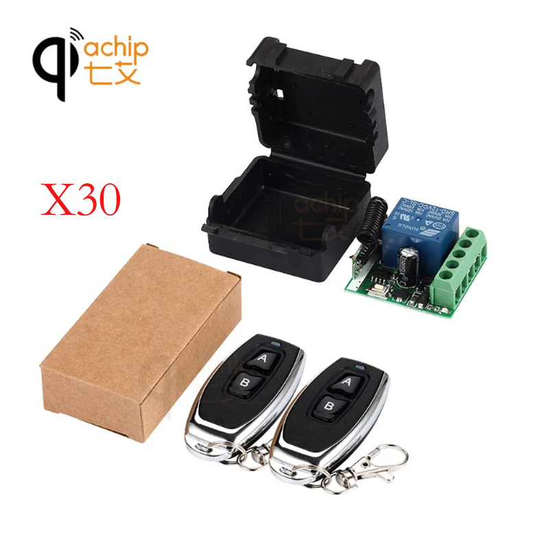 30Pcs 433Mhz Universal Wireless Remote Control Switch DC 12V 1CH relay Receiver Module RF Transmitter 433 Mhz Controls