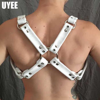 UYEE Handmade Crafts Leather Harness Garter Belts Restraints Chest Straps Leather Belt Strap For Men Harajuku Accessories LM-027 - DISCOUNT ITEM  45% OFF All Category