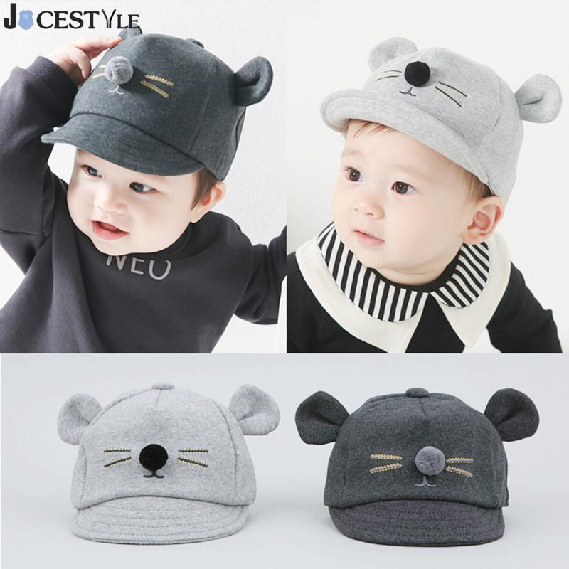 Baby Hat Cartoon Cat Design Kids Hat Baseball Cap Cute Cotton Baby Boys Girls Summer Sun Hat Children Visors Hip Hop Child Caps 2016 fashion kids cartoon snapback caps flat brim child baseball cap embroidery cotton cap baby boys girls peaked cap