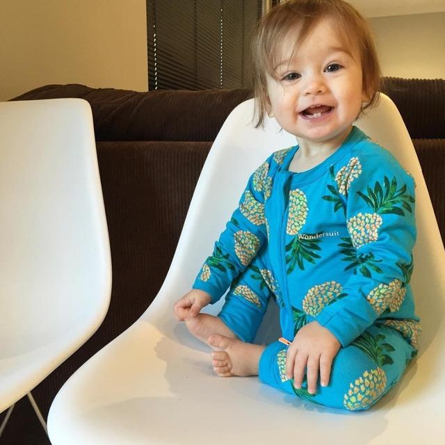 Impressão abacaxi Bebê recém-nascido Meninos meninas manga longa de Algodão Macacão infantil Macacão Outfits bebê roupas boutique