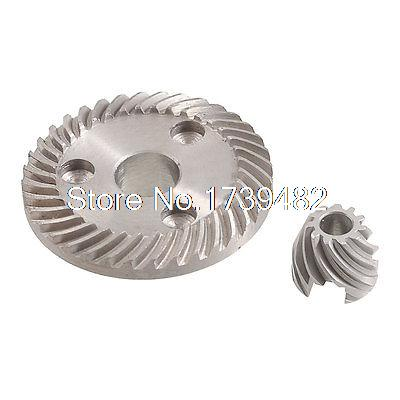 Gray Metal Spiral Bevel Gear Pinion Set for Makita 9523B Angle Grinder angle grinder spare part spiral bevel gear set for hitachi 180 angle grinder page 3