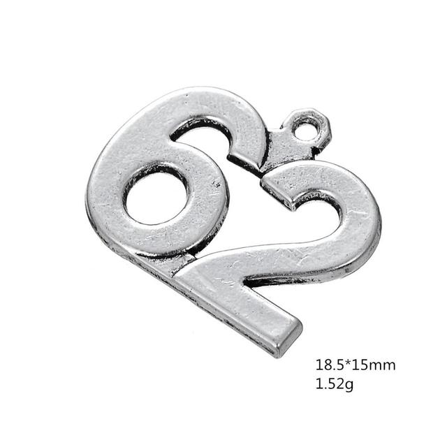 Silver Tone Round Charm Pendant/_MA5200578PA0025/_Silver Large Charms/_ Tibetan of 53 mm/_ pack 1 pcs