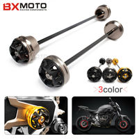 Motorcycle accessories Front and Rear Wheel Axle Fork Crash Sliders Falling Protector For Yamaha MT07 FZ07 2013 2014 2015 2017