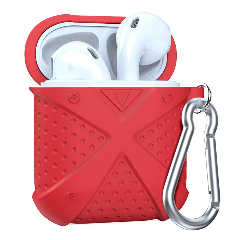 Soft Earphone Case X Silicone Protective Shockproof for Airpods Case Cover Shell Skin Storage with Carabiner for Airpods Case цена