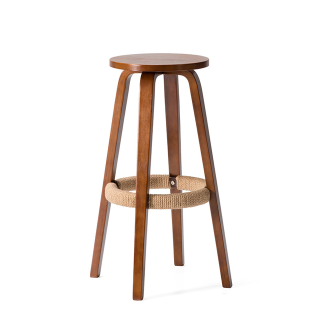 Contemporary 360 Swivel Bar Stool Chair Height 685cm Round Seat