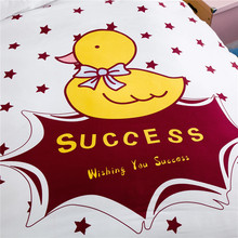 Cute Cartoon Chicken Pattern Home Textile Single Duvet Cover No Filling  Bed Comforter Cover 160X210cm,180X220cm, 4 Size Bedding