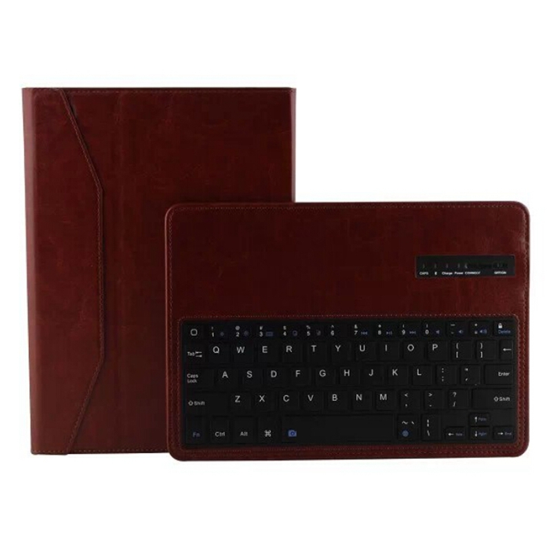 Fashion Crazy Horse pu Leather Removable Bluetooth Keyboard Case for iPad 6 for iPad Air 2 Leather Case Stand Cover