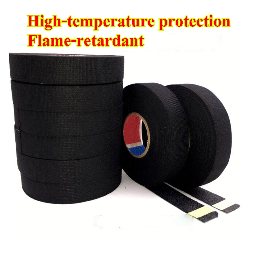 15 Meters Wires Fabric Tape High-temperature Protection Loom Harness Tape  For Cars wholesale wire car car wiring harness