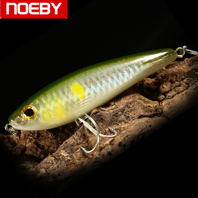 NOEBY Topwater lápiz señuelos flotantes cebos duros realista Artificial falso aparejos de pesca NBL 9068