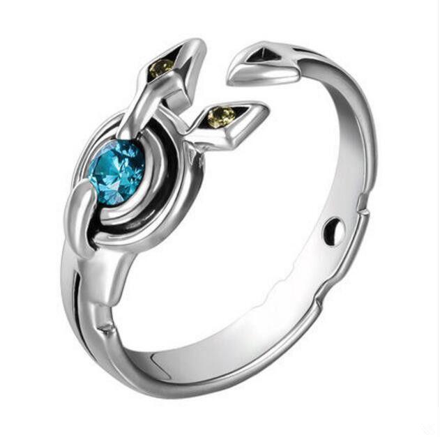 NO GAME NO LIFE Shuvi Dora Ring 925 Silver Christmas Cos Gift US 7/8/9