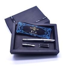 Duke 209 авторучка два разных перьев новая кожаная Подарочная коробка Упаковка классический высококачественный офисный канцелярский подарок; ручка