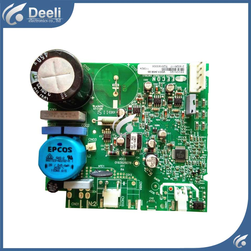 good working for refrigerator pc board Computer board used EECON-QD VCC3 0193525078 Frequency conversion board цена и фото