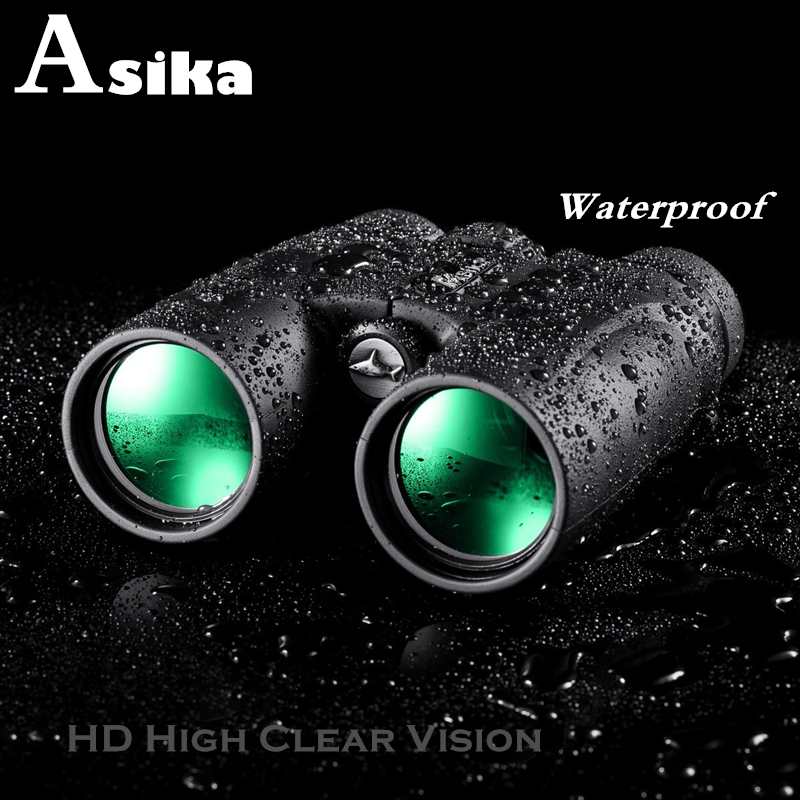 Binoculars Asika 10x42 High quality HD Military Telescope for Hunting and Travel Compact High Clear Large Vision Binocular Black цена и фото