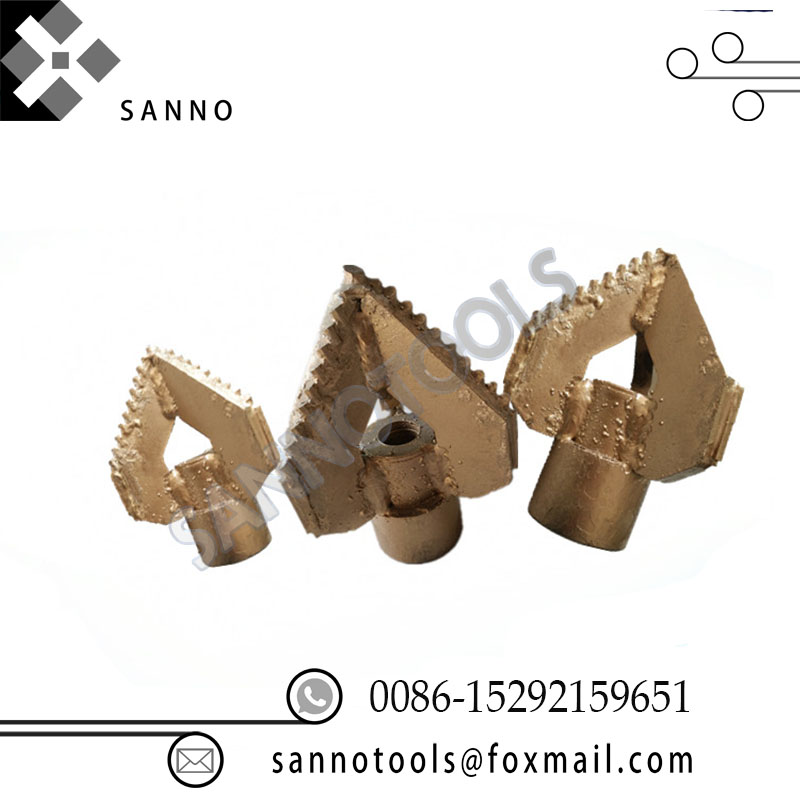D170 / D180 Three blade drill bit drilling tools 3 wings full tooth drills mud pump fitting suitable for 42 / 50 drill pipeD170 / D180 Three blade drill bit drilling tools 3 wings full tooth drills mud pump fitting suitable for 42 / 50 drill pipe