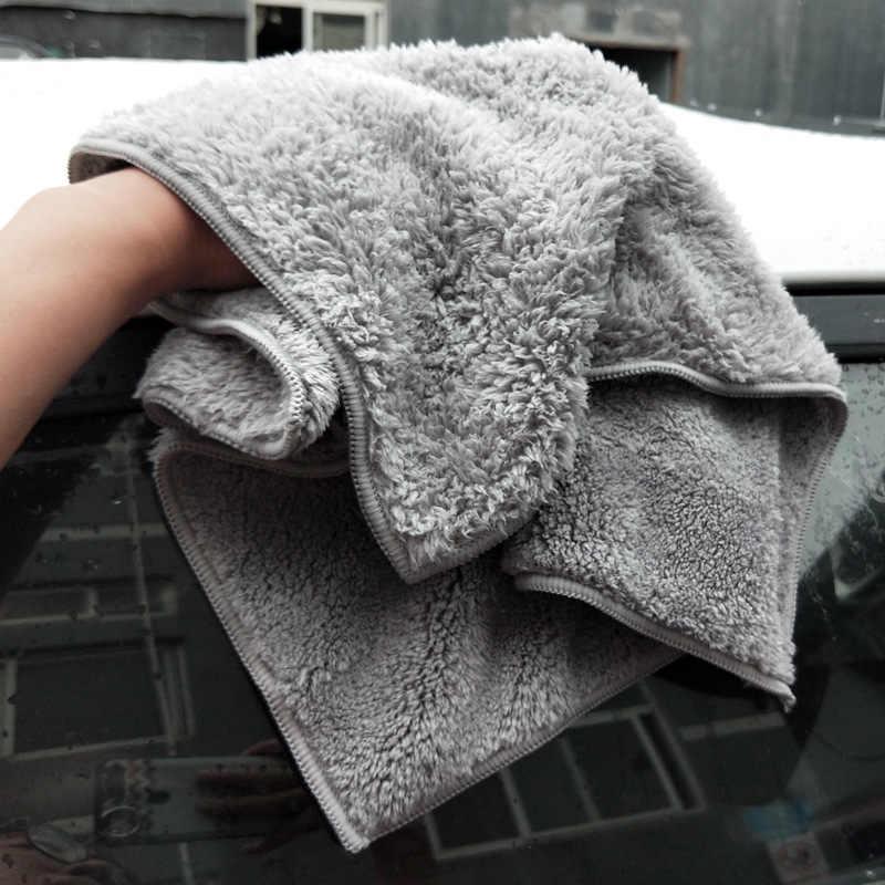 6 шт. 500GSM 40x40 см супер толстые плюшевые безedgeless полотенца из микрофибры уход за автомобилем чистящие салфетки микрофибра полировка детализация сушка