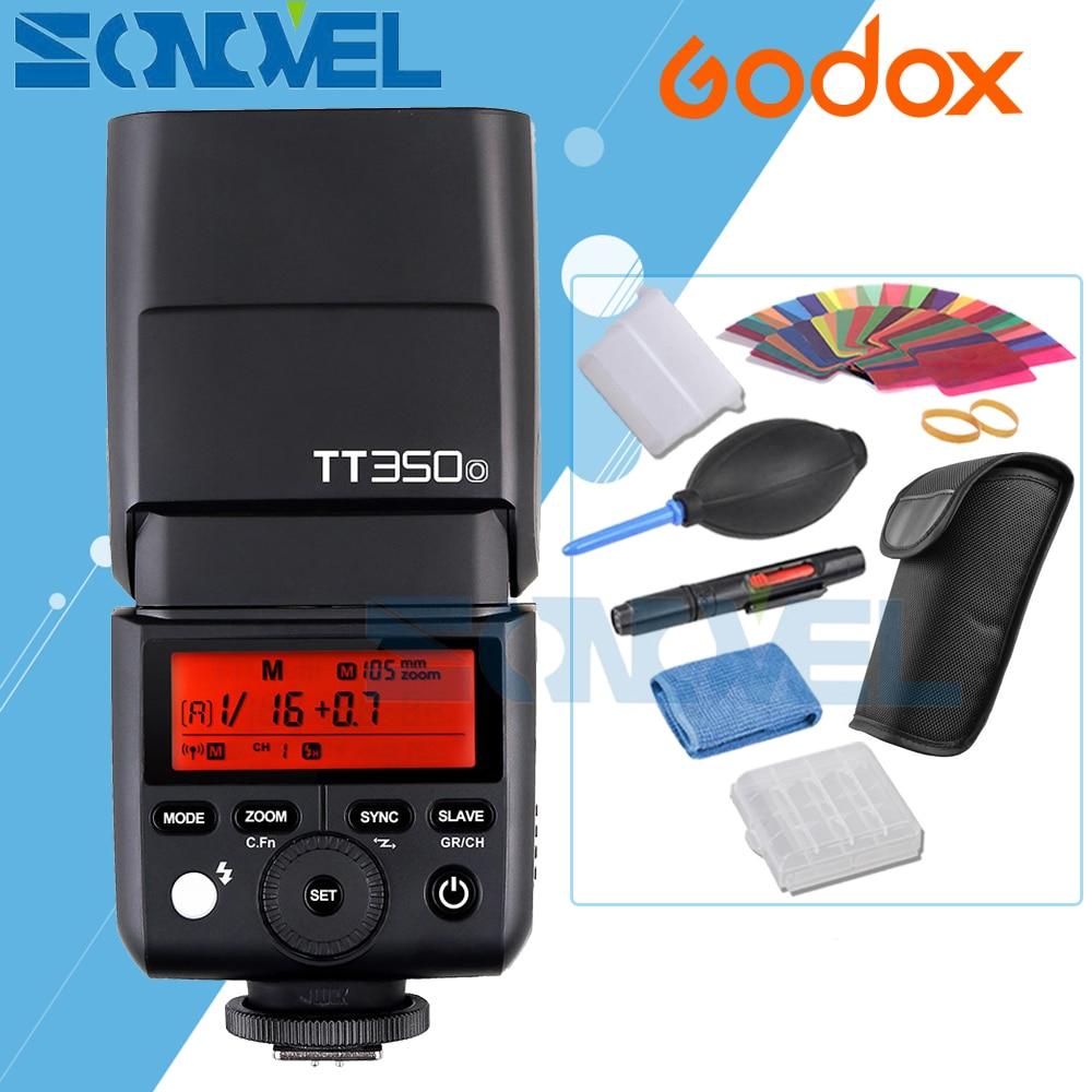 Godox TT350o 2.4G TTL HSS GN36 1/8000 s Speedlite Flash pour Olympus E-P5 PEN-F E-M10II E-M10 E-M5II E-M1 E-PL8 E-PM1 E-PL3 + Cadeau