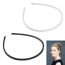 3pcs/lot Plastic Headbands Thin Hair Hoops Teeth Headwear for Women Girls Accessories random color