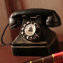 Vintage Style resin telephone model bar cafe furnishing articles prop home decoration