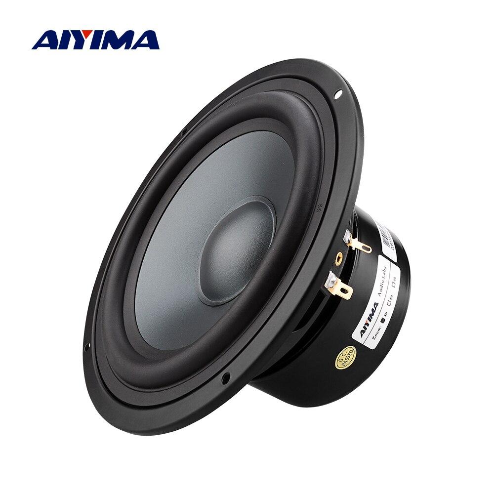 AIYIMA 1 pièces 6.5 pouces haut-parleur de graves 4 8 ohms 80 W haut-parleur haut-parleur colonne Home cinéma pour bibliothèque étage son musique bricolage
