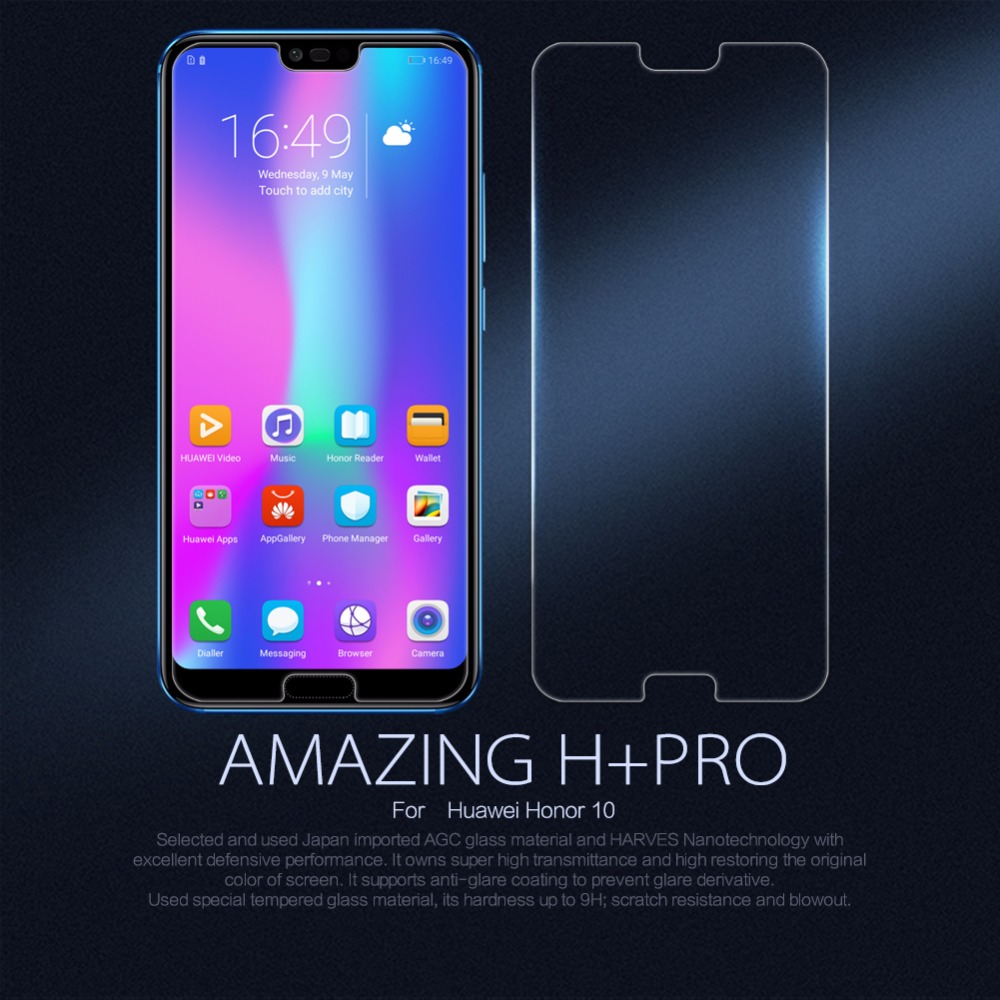 Pour Huawei Honor 10 NILLKIN Incroyable H + Pro Ronde Bord Anti-Explosion En Verre Trempé huawei honor 10 honor 8 Protecteur D'écran
