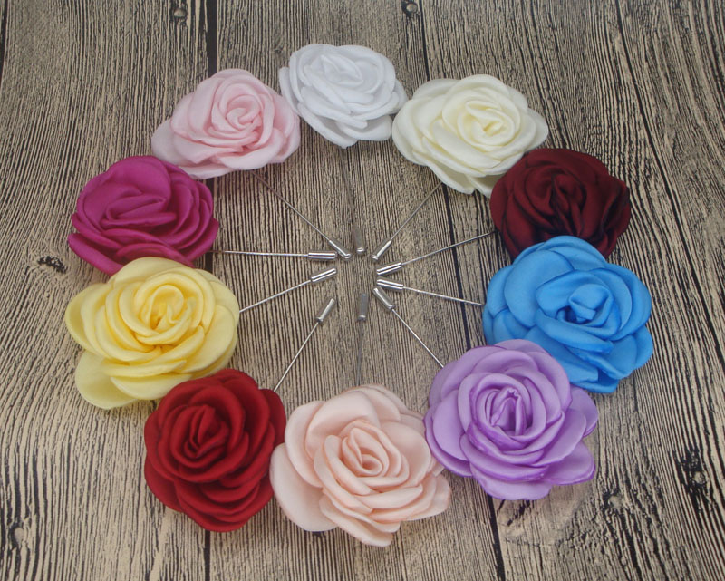 Wedding brooches for men burned flower rose handmade boutonniere sticks brooch pin mens suits clothing accessories 20ps/lot