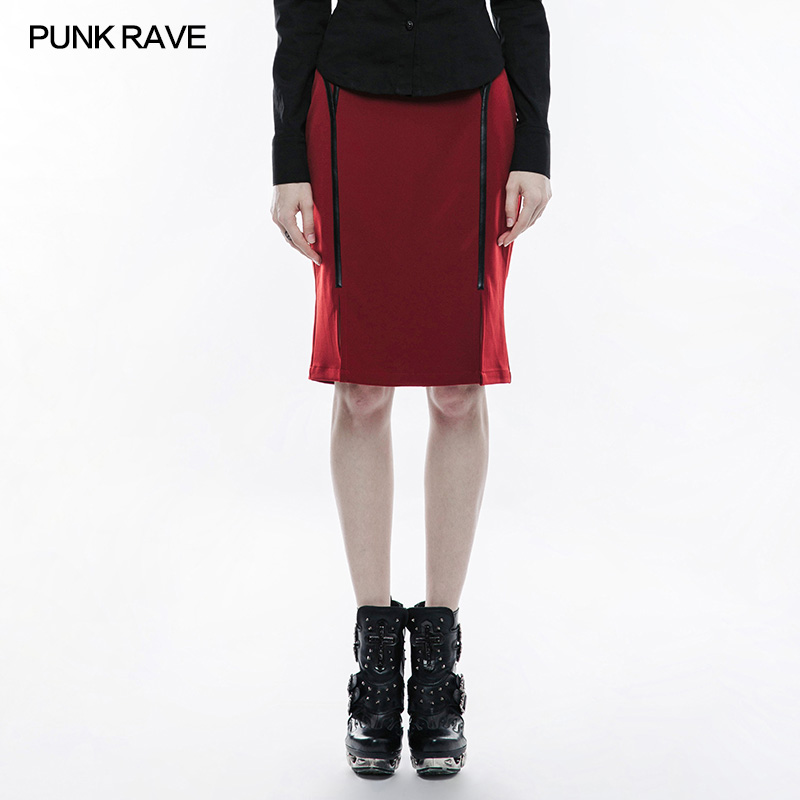 2018 Punk Rave New design Military Uniform Half Skirt Punk Rave Sexy Gothic Goth Tight Women Clothing,two colores choice,WQ342