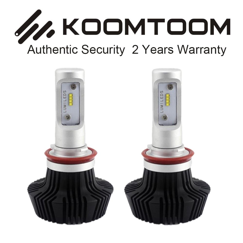 ФОТО 100 Pair LED Headlights Bulb LED Bulb H3 H1 H4 H7 880 H13 H8 H11 9007 9006 9005 9004 9012 72W 4000LM PCS 6500K