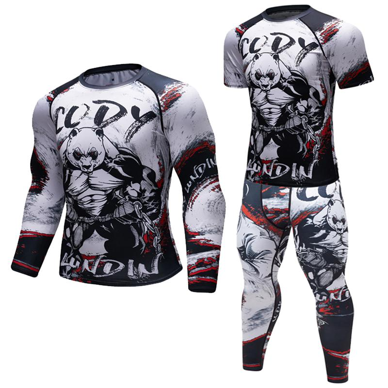 Brand New Men Compression Work Out long/Short sleeve Tees 3D Gorilla Fitness Tights UFC BJJ MMA Gyms Exercise Rashguard   T     shirt