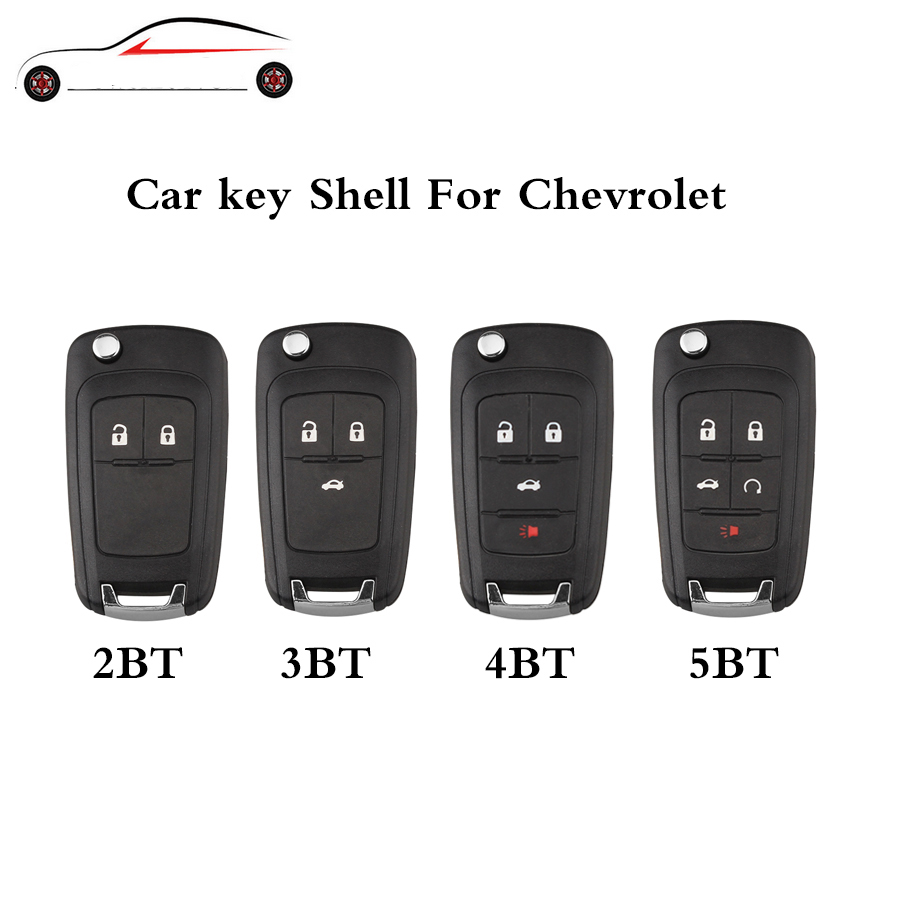 GORBIN 2/3/4/5 Button Remote Key Covers For Chevrolet Aveo Cruze Orlando 2009 2010 2012 2013 2014 2015 Original keys