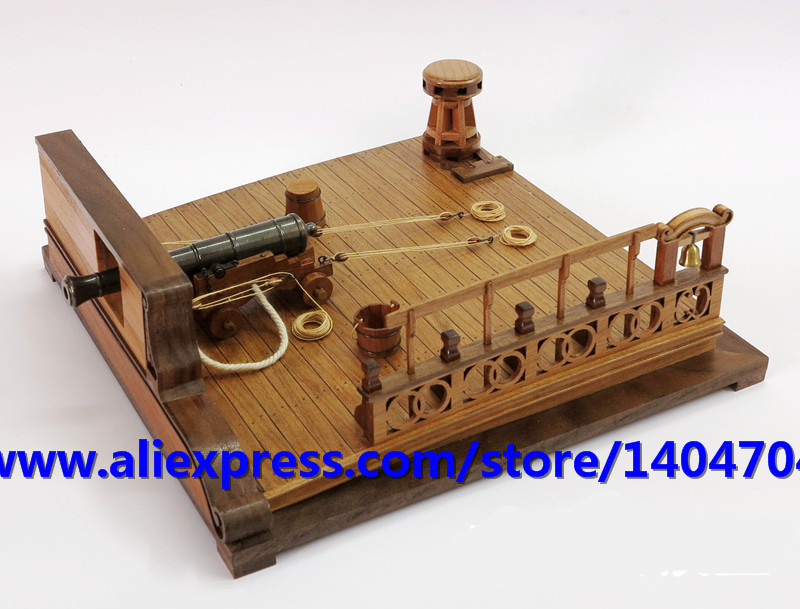 NIDALE Model 15th century classic Warship cannon model assemble Scale 1 26 The deck 8 pounds