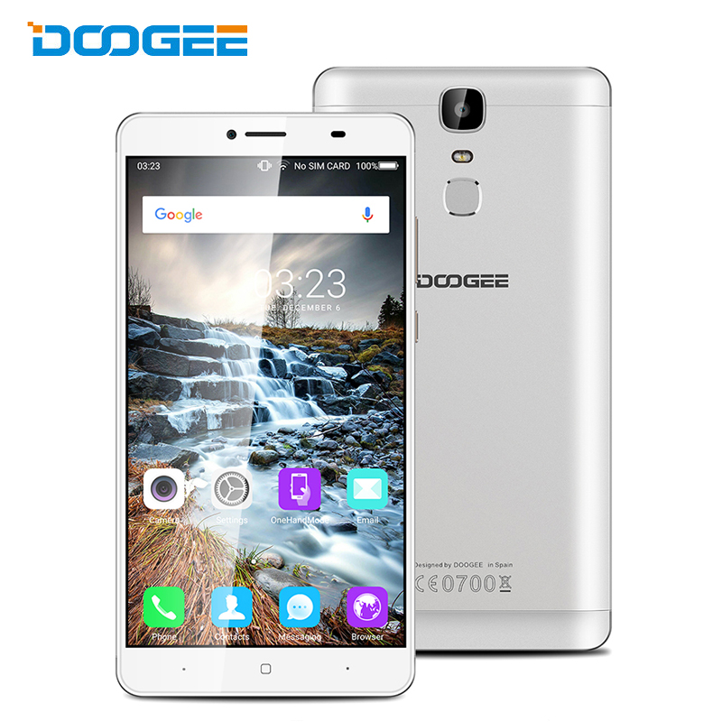 Doogee Y6 Max Fingerprint MTK6750T Qcta Core Android 6 0 3G RAM 32G ROM Mobile Phones