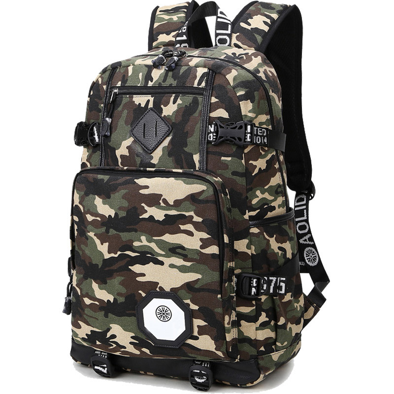 2016 Backpack Men Preppy Style Camo School Backpacks for Boy Girl Teenagers High School Middle School Bags Large AXB21 pleega new 2017 preppy style student leisure school bag teenagers girl canvas backpack boy school backpack big backpack notebook