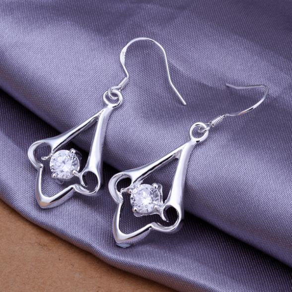 e85d46be824 NewFree Envio Gratuito de brincos de prata 925 moda jóias brinco 925  brincos de prata atacado E260
