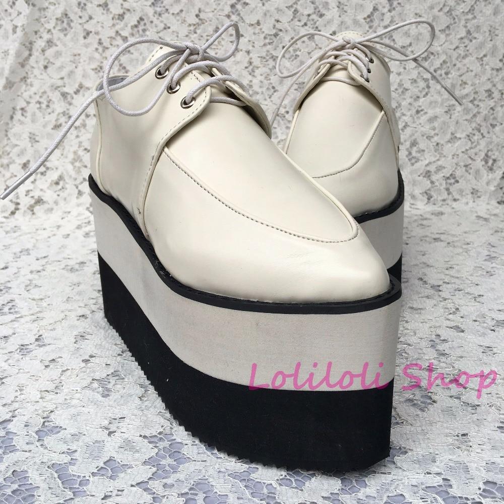 Punk An1304 Chaussures Et Ivoire Documentaire Grandes Blanc Fond Noir Beige Épais multi Chaussures Dentelle 3 Muffin Personnalisé spécial rrSBgq