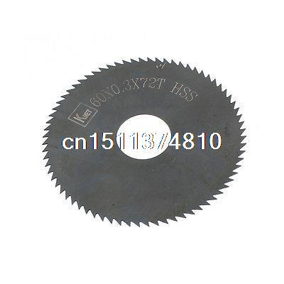 6cm x 0.03cm x 1.6cm 72 Teeth HSS Slitting Saw Blade Cutting Tool  цены