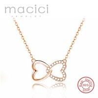 Corazón collar unidos en un amor collar sello S925 moda plata joyas al por mayor precio DA590