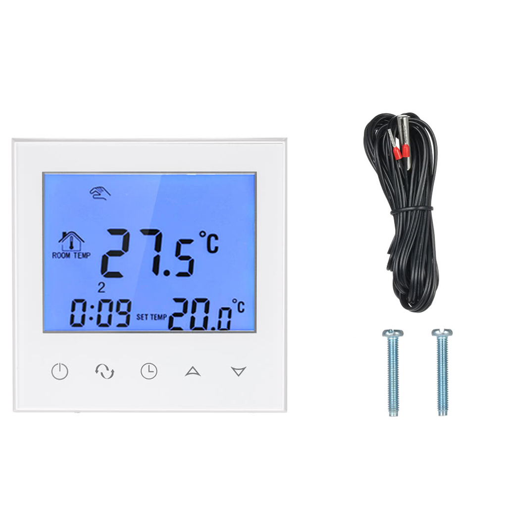 Electric Heating Thermostat with Touchscreen Smart WIFI Programmable Temperature Controller with LCD Display 16A 200-240V floor heating thermostat temperature control switch electric film thermostat electric geothermal uth 170r