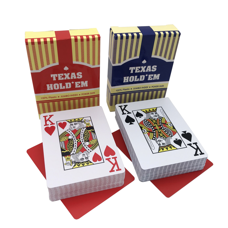 2Sets Lot New Baccarat Texas Hold 39 em Plastic Poker Cards Big Number Waterproof Frosting Playing Cards Board Games 2 48 3 46 inch in Board Games from Sports amp Entertainment