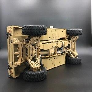 Image 5 - U. s.4X4MILITARY véhicule M1025 Humvee 1/10 rc métal châssis tout terrain véhicule voiture HG P408 amélioré lumière fonction sonore