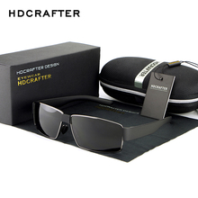 New Fashion Polarized Metal frame Men Sun Glasses Brand Design Rectangle Eyewear